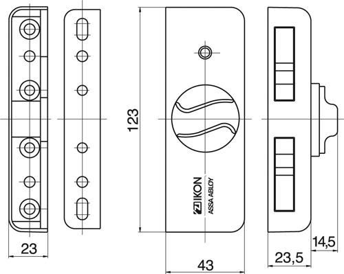 IKON 9M01 Krallfix 4 Fensterzusatzsicherung Fenster /& Balkontürensicherung VdS